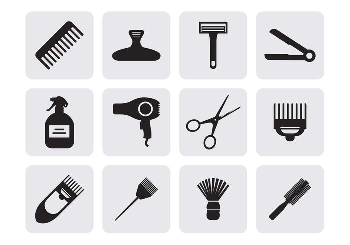 Hairdressing Icons Vector