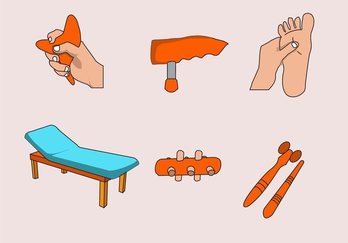 Vector d'activités de réflexologie
