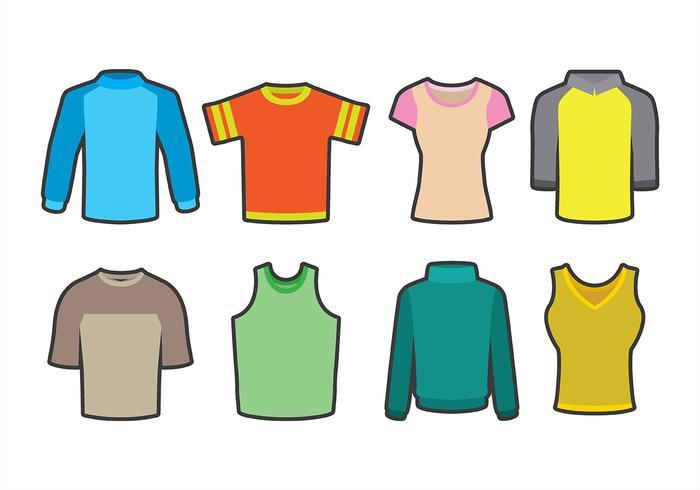 Raglan Shirt Icons