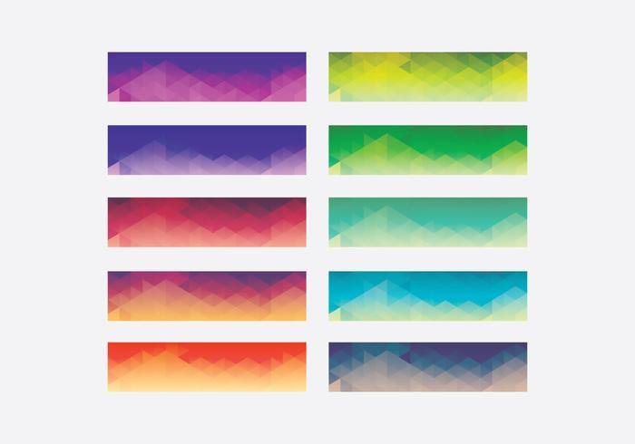 Conjunto de modelos de topografia linear gradiente webkit