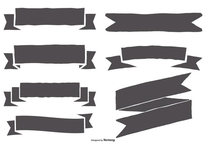 Set di nastri stile disegnato a mano