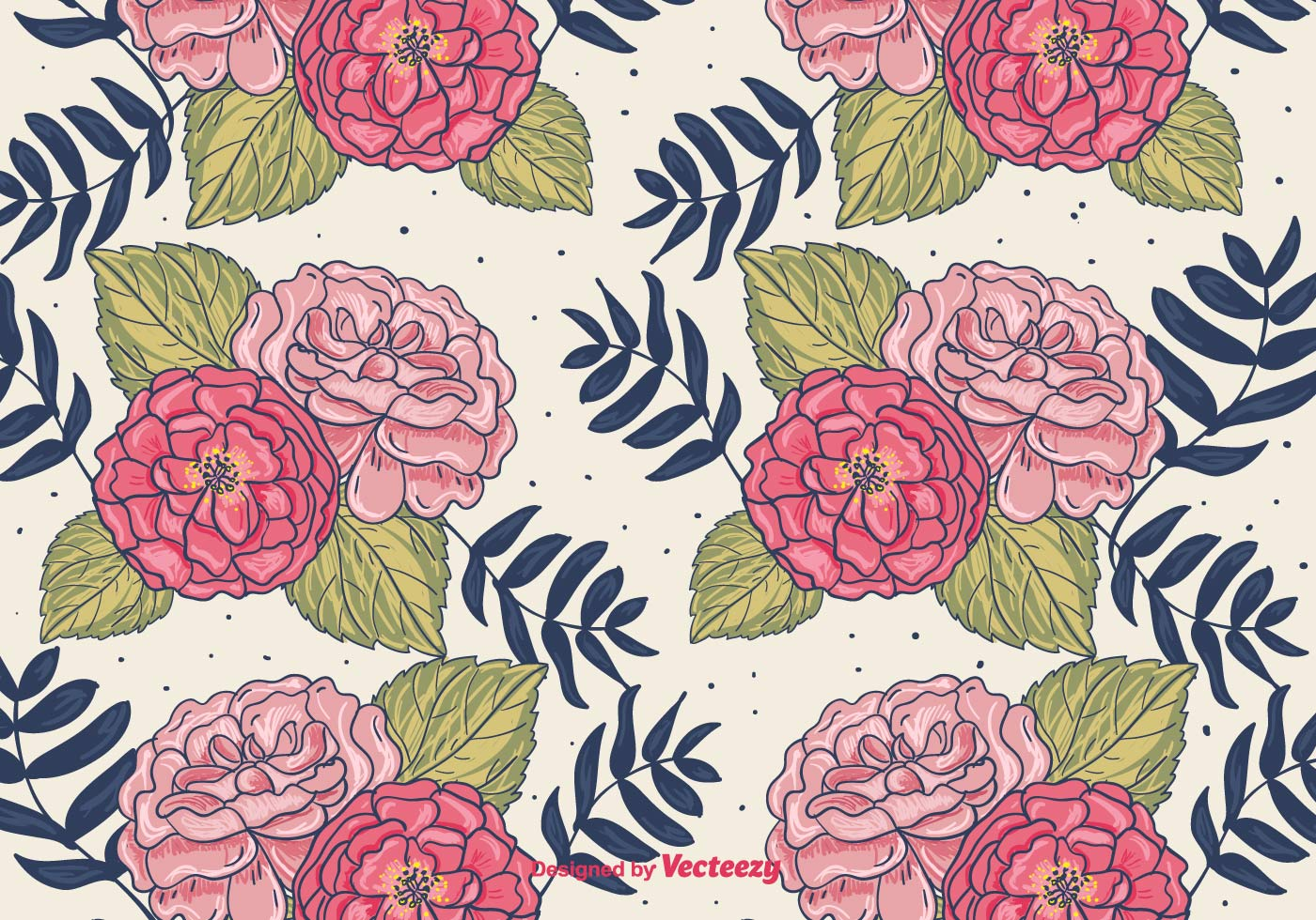 Hand drawn floral background download free vector art stock graphics images - Floral background ...