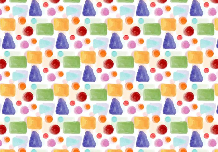 Free Vector Watercolor Geometric Background