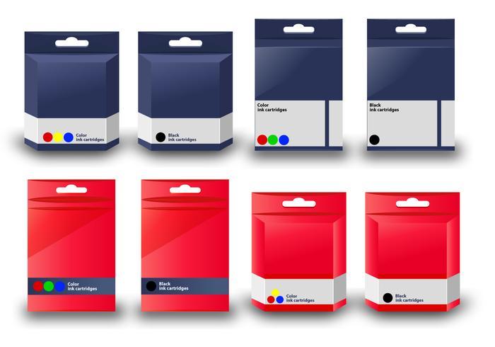 Vector Ink Cartridge box template