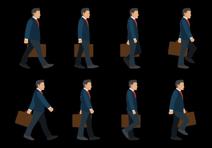 Ciclo de caminhada do homem de negócios