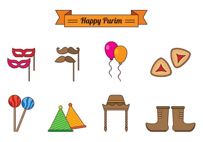 Ensemble d'icônes de célébration de Purim