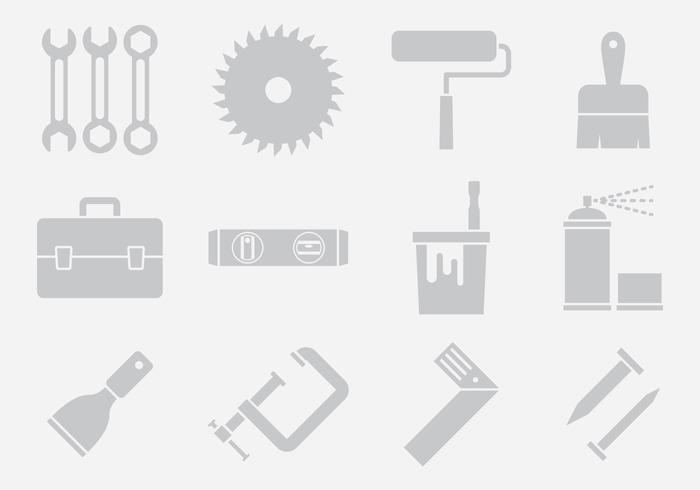 Gray Tool Icons