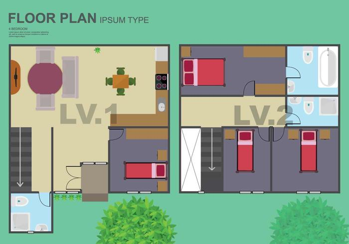 Free Floorplan Illustration