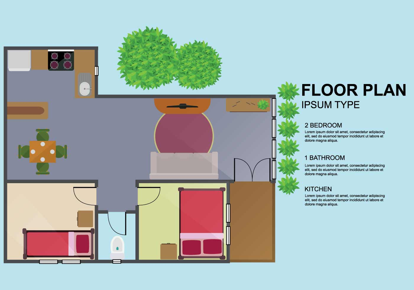 Free floorplan illustration download free vector art - Floor plan online free ...