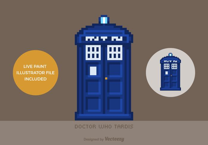 Free Vector Pixel Doctor Who Tardis