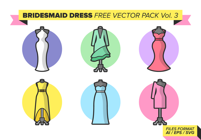 Bridesmaid Free Vector Pack Vol. 3