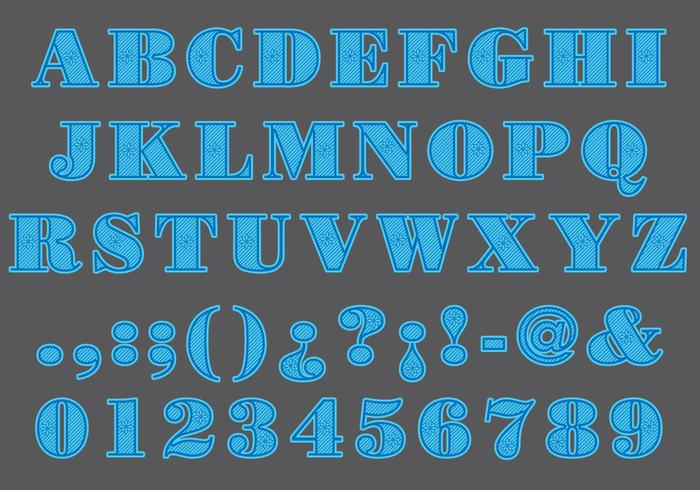 Blue Laser Cut Type vector