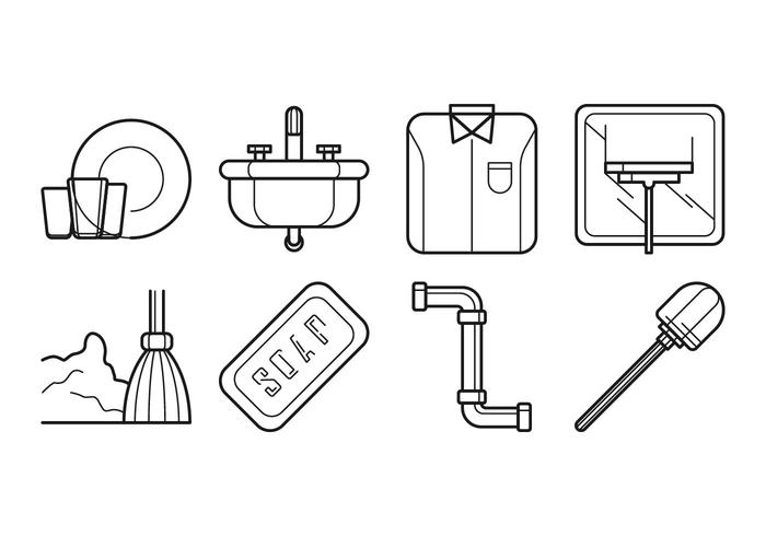 Free Cleaning and Washing Icon Vector