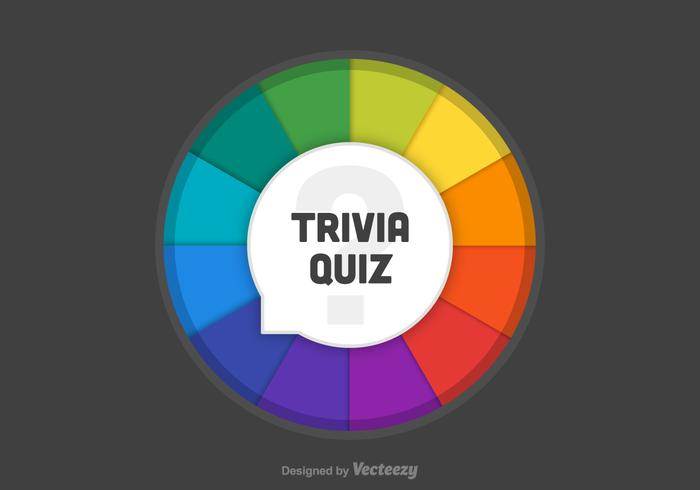 Trivia Quiz Wheel Vector