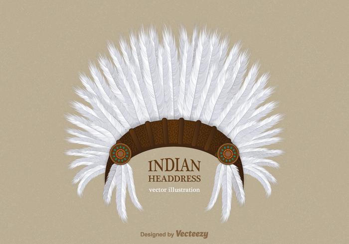 Libere el tocado indio del vector