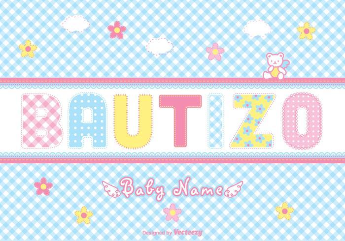 Carte vectorielle gratuite Bautizo Scrapbook