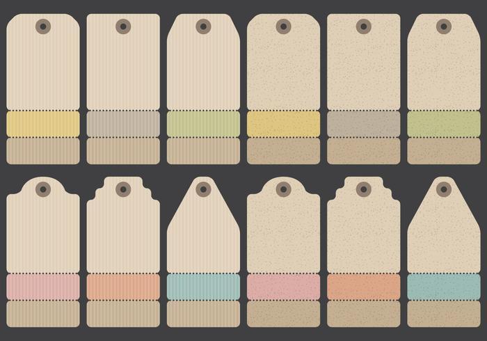 Ropa de la etiqueta de papel
