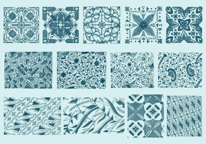 Blue Toile Textures