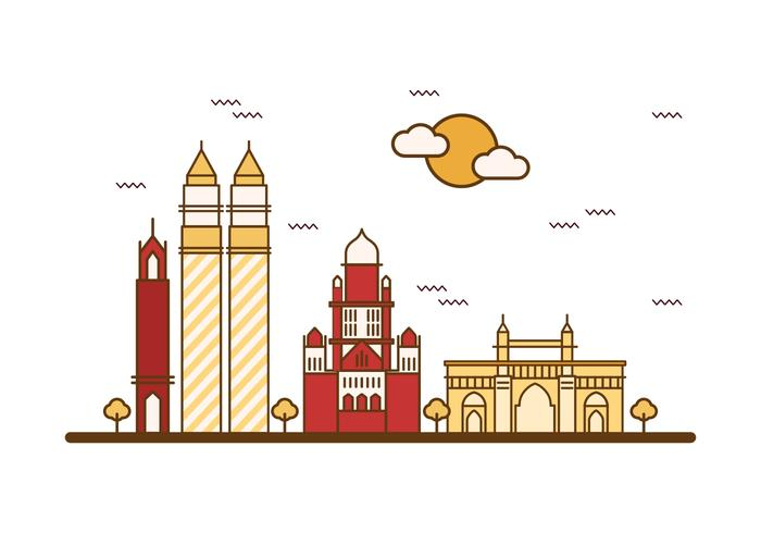 Vector d'illustration gratuit de Mumbai