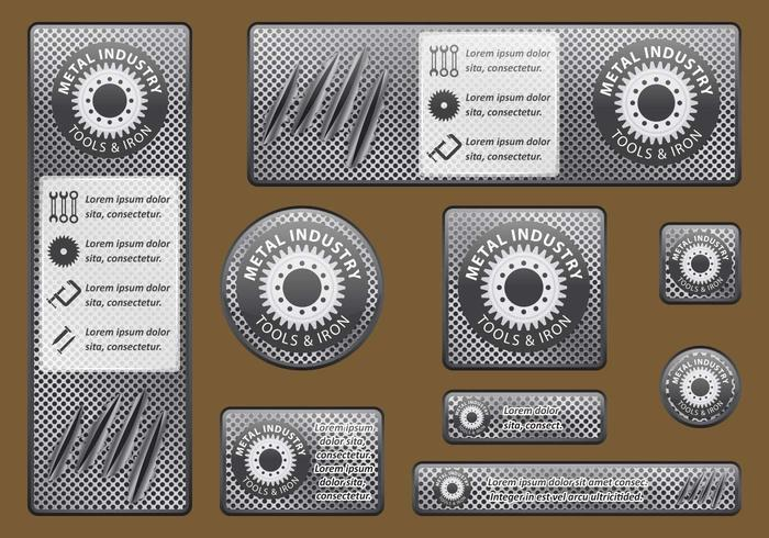 Bannières de l'industrie métallurgique