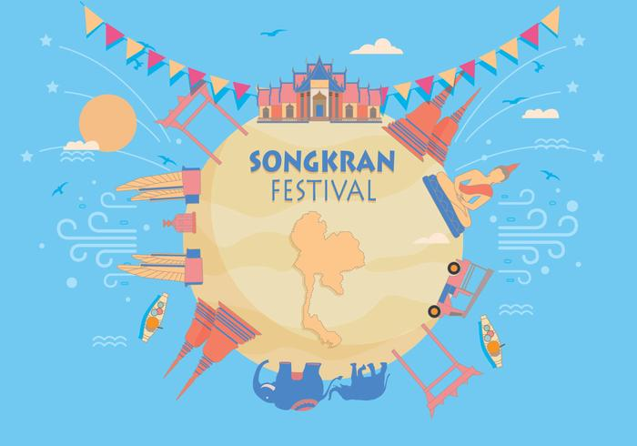 Festival Songkran Vector
