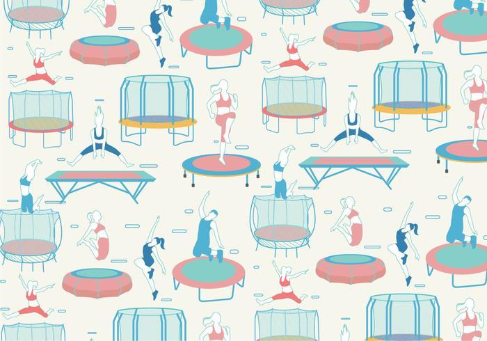 Vecteur de motif de trampoline