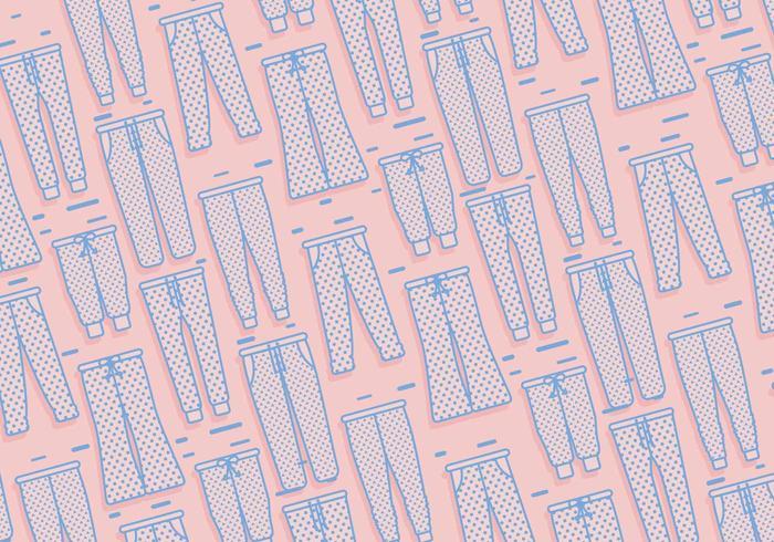 Sweatpants Pattern Vector