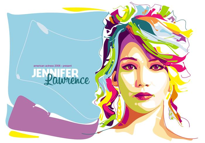 Jennifer Lawrence - à Popart Portrait