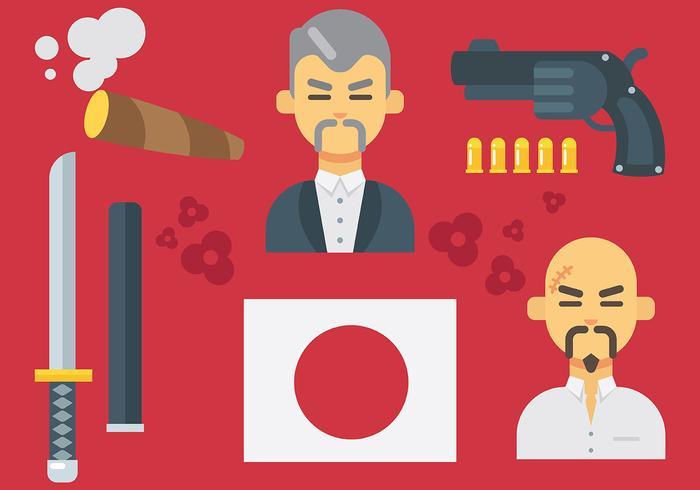 Free Yakuza Icons Vector