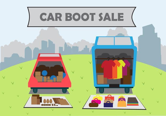 Illustration vente de chaussures de voiture