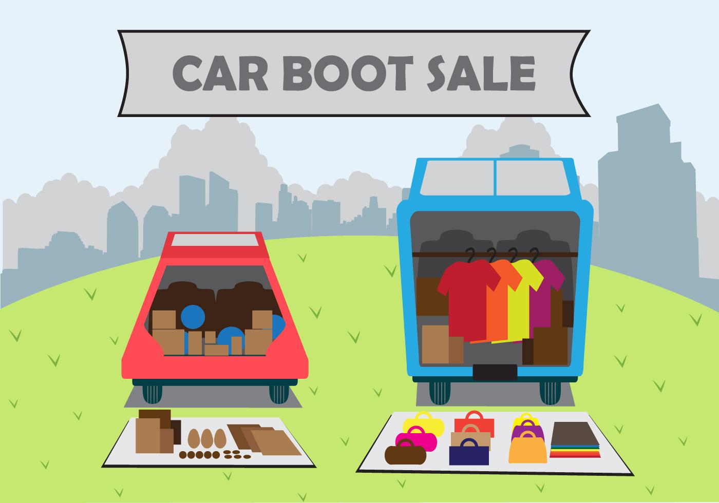 Illustration Car Boot Sale Download Free Vectors