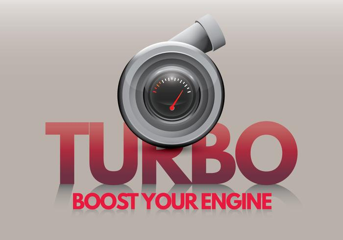 Turbocharger Boost Your Engine vector