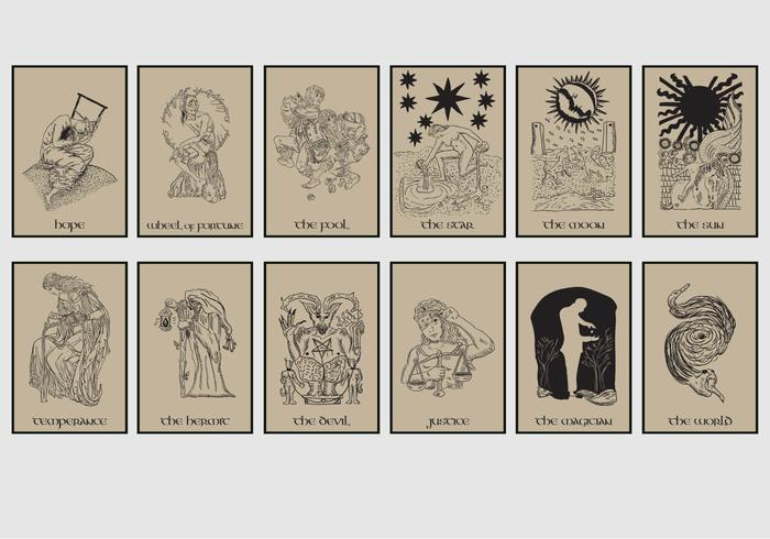 Tarot Card In Brown Background