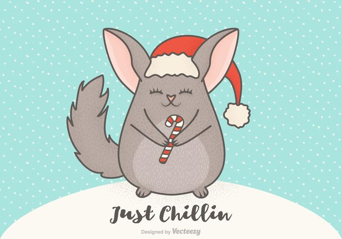 Free Vector Christmas Cartoon Chinchilla