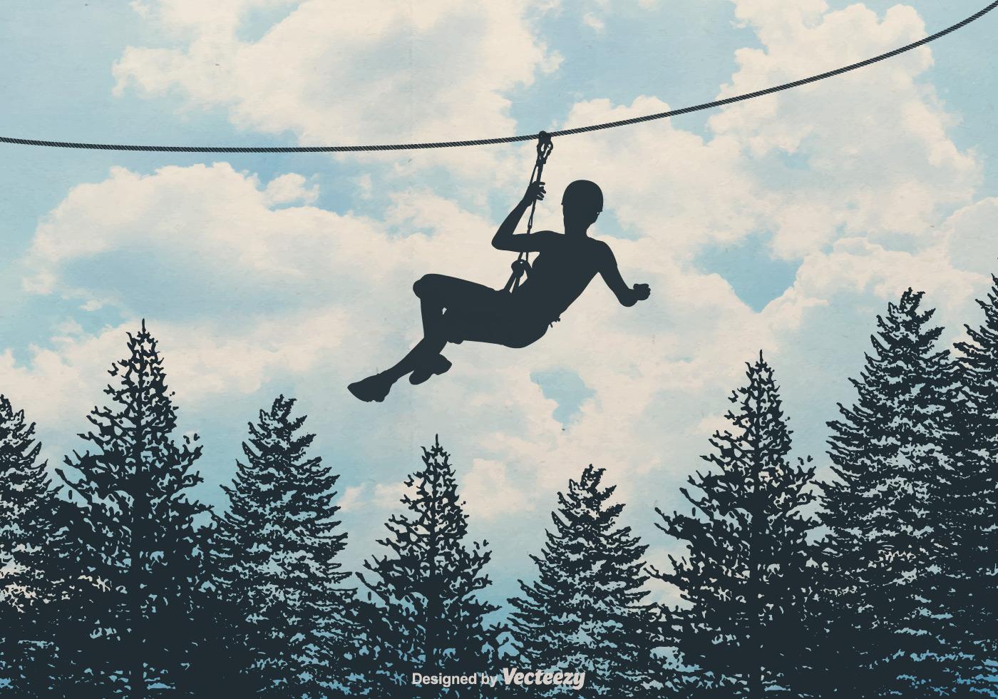 Free Zipline Vector Background Download Free Vector Art