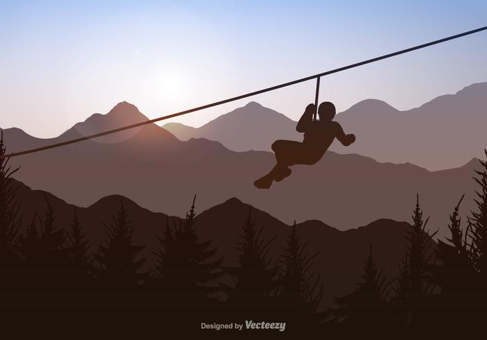 Free Vecor Zipline Background
