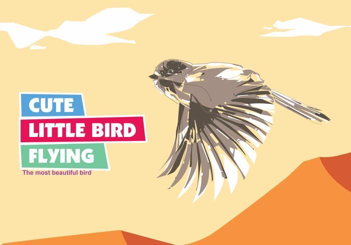 Cute Little Bird Vector