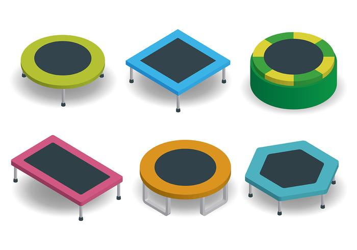 Free Trampoline Icons Vector
