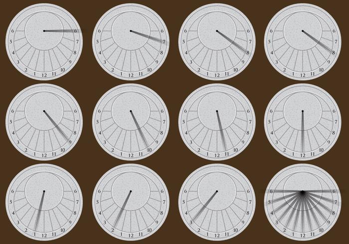 Cadrans solaires circulaires