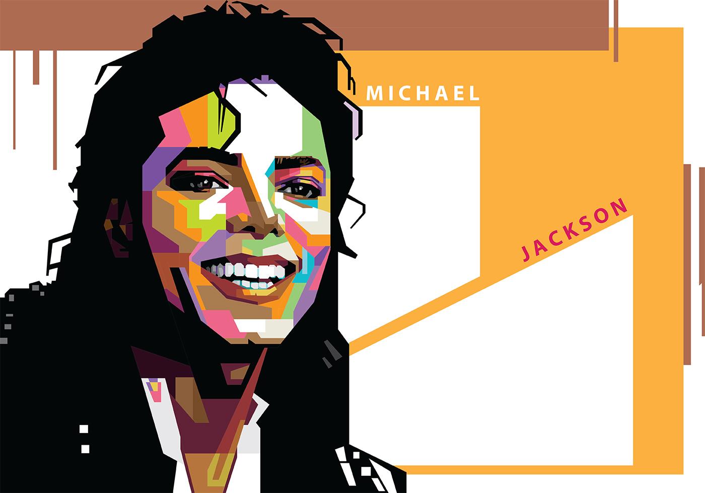 Michael Jackson in Popart Portrait