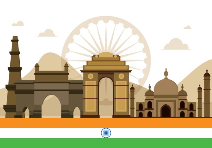 Ilustração do vetor da porta da Índia
