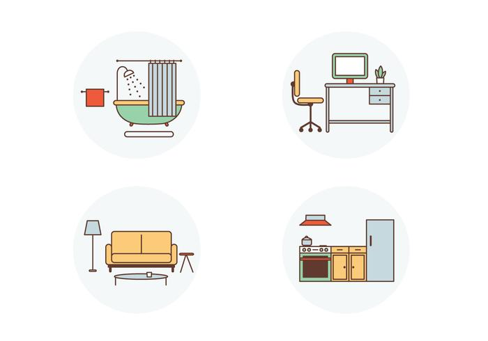Room Vector Icons