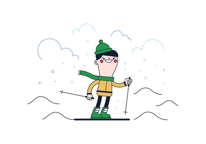 Free Skiing Vector