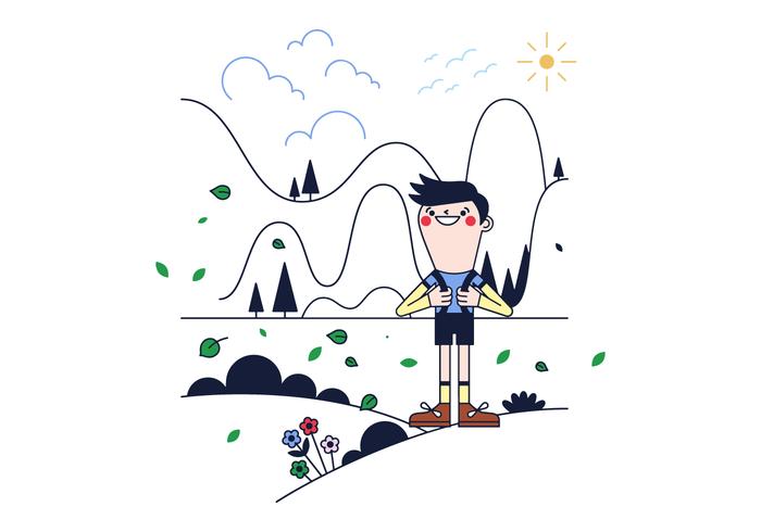 Vecteur de trekking gratuit