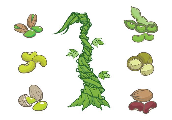 Vetor de ícones Beanstalk grátis