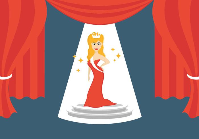 Illustration Of Pageant Queen vector