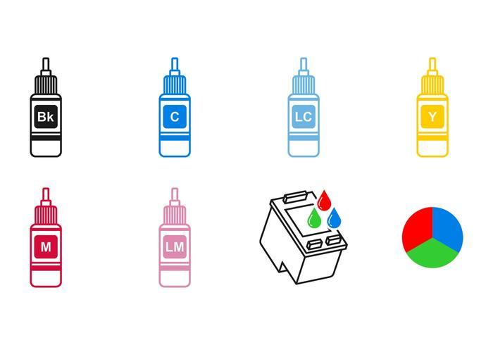 Pictogramvectoren van de inktcartridge