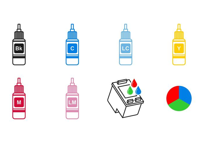 Ink Cartridge Icon Vectors