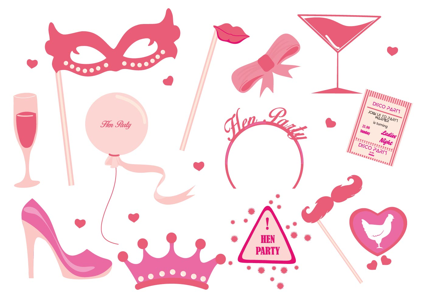 Hen Party Ladies Night Party Vector - Download Free Vector ...