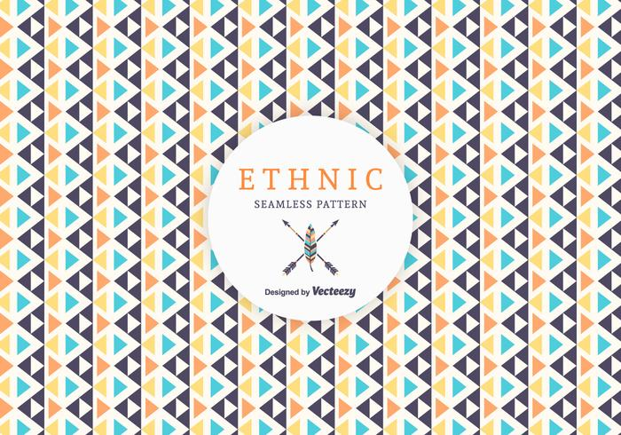 Free Geometric Ethnic Vector Pattern